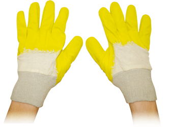 Handschuhe Latex Strickbund