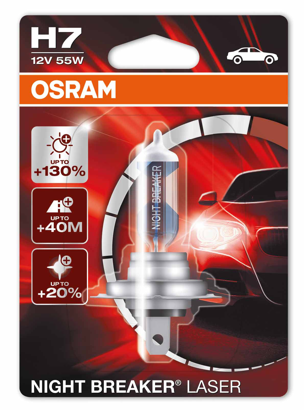 Ersatzlampe Osram Night Breaker 12V H7, 1er-Blister