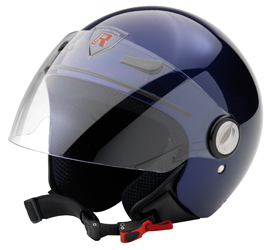 Jet Helm Frontera dark blue metal Gr.L