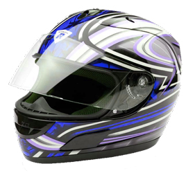 Integral Helm Dragon black/blue metal Gr.L