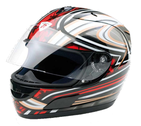 Integral Helm Dragon black/red metal Gr.XL