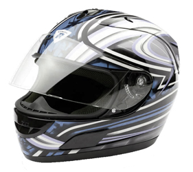 Integral Helm Dragon black/silver metal Gr.S
