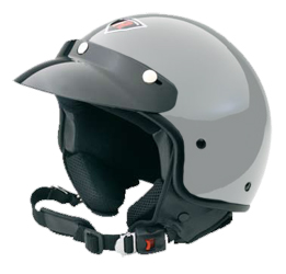 Jet Helm Rock silver metal Gr.XL