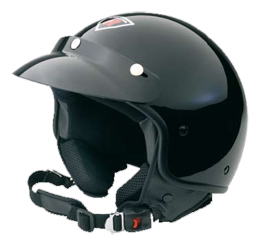 Jet Helm Rock black metal Gr.S