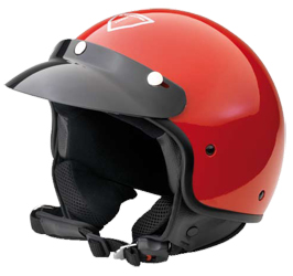 Jet Helm Rock red metal Gr.S