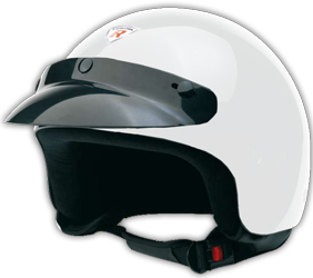 Jet Helm Trek white metal Gr.L