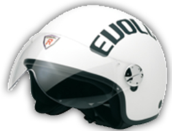 Jet Helm Evolution white rubber Gr.L